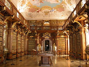 Image source: http://upload.wikimedia.org/wikipedia/commons/thumb/2/2b/Melk_-_Abbey_-_Library.jpg/300px-Melk_-_Abbey_-_Library.jpg