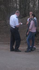 Police talk to tourists