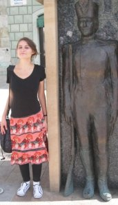 Wearing the skirt while inter-railing in the summer of 2009.