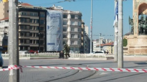 Controlled explosion at Taksim Square