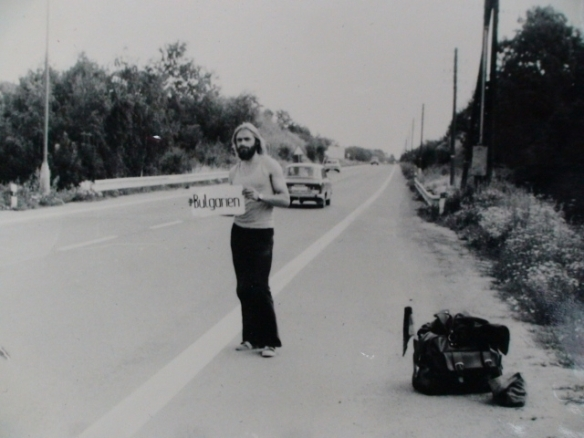 Olaf Schwarz hitchhiking